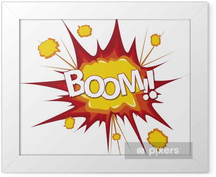 Plakat w ramie Boom Bang komiks cartoon explosion - Filmy i seriale