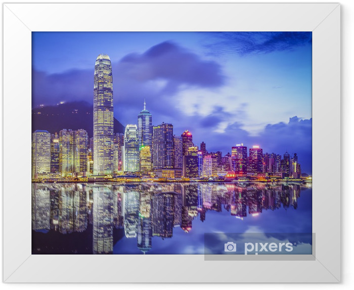Poster in Cornice Hong Kong Cina City Skyline - Temi