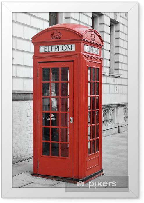 Ingelijste Poster Rode telefooncel in Londen - Thema's