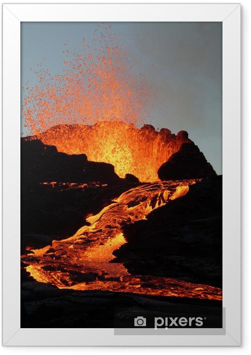 Plakat w ramie Volcan1 - Klęski żywiołowe