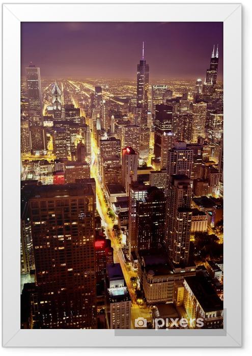 Ingelijste Poster Luchtfoto van Chicago - Thema's
