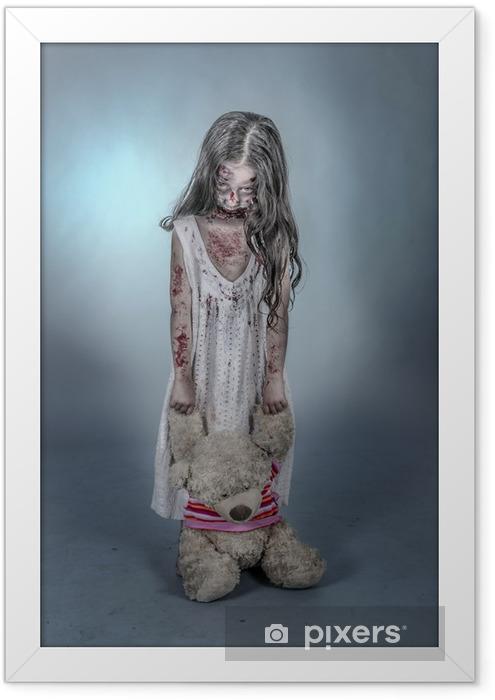 Póster Enmarcado Zombie chica - Temas