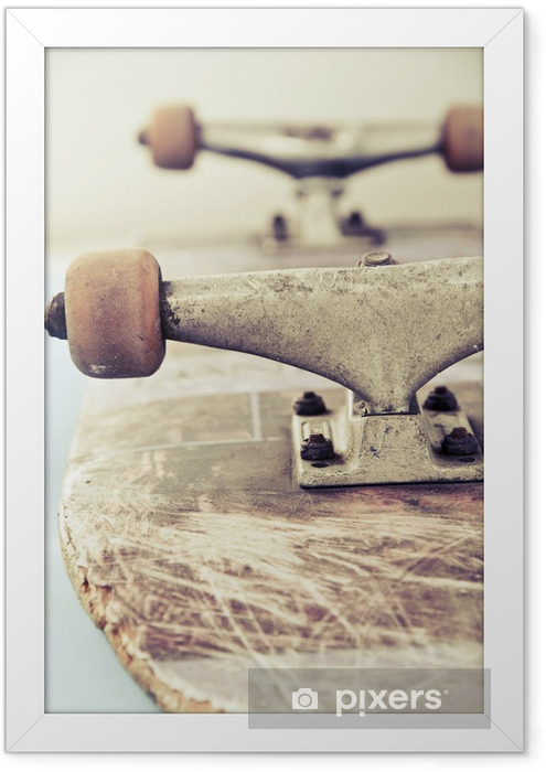 Plakat w ramie Bliska obraz deskorolce - Skateboarding