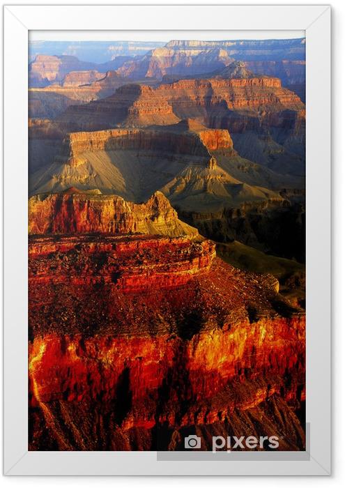 Poster i Ram Grand Canyon färger - Berg