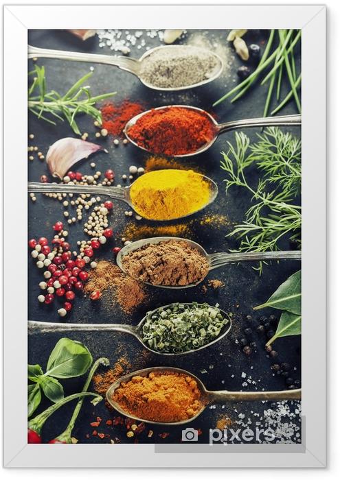 Poster en cadre Herbes et épices sélection - Herbes
