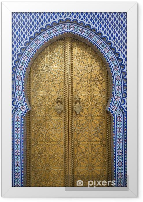 Ingelijste Poster Koninklijk Paleis in Fes, Marokko - Thema's