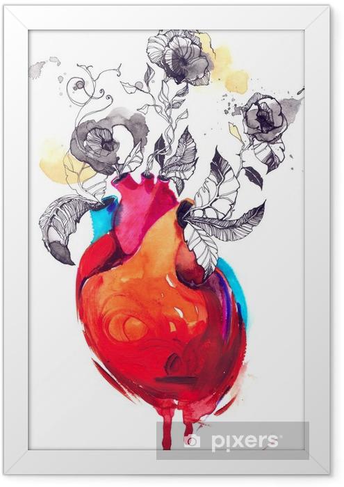 Ingelijste Poster Liefdes - Gevoelens, Emoties en Staten van Geest