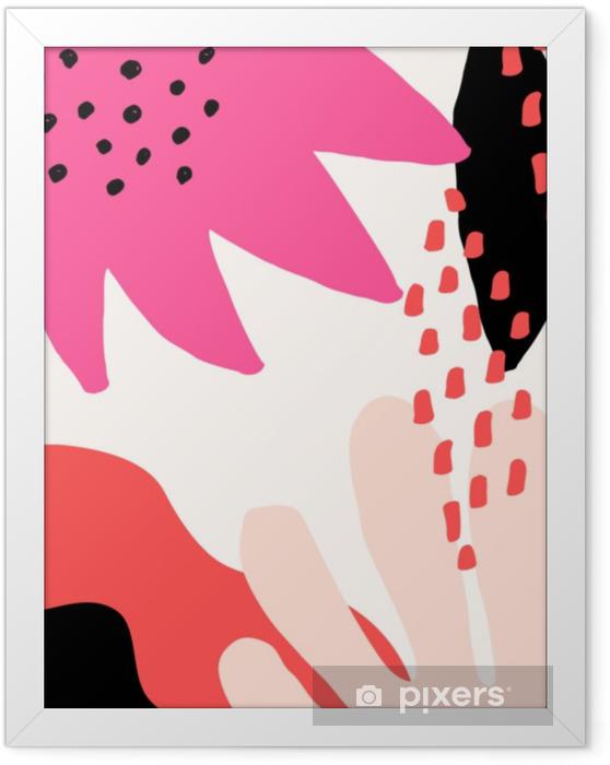 Çerçeveli Poster Soyut kolaj tasarımı - Grafik kaynakları