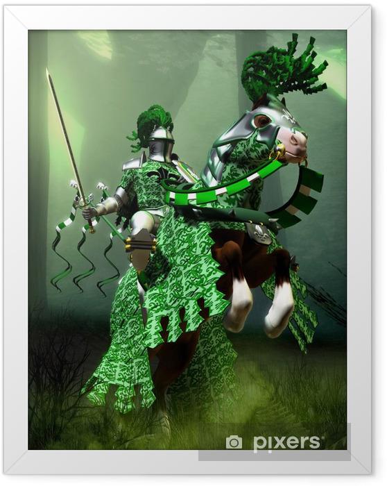 Poster i Ram Fantasy grön riddare - Riddare