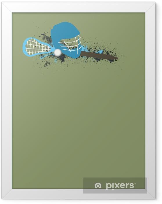 Innrammet plakat Lacrosse bakgrunn - Bakgrunner