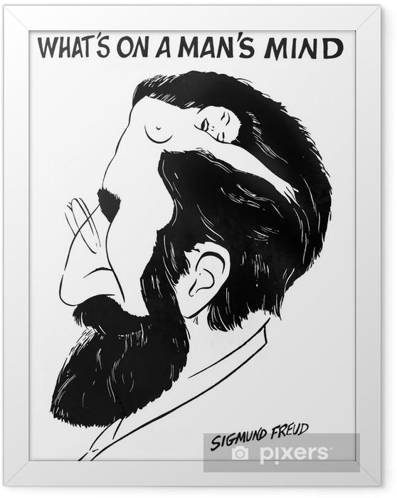 """Ingelijste Poster """"Wat is op de geest van een man"""" door Sigmund Freud - iStaging"""