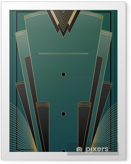 Poster i Ram Fans Art Deco Bakgrund - Bakgrunder