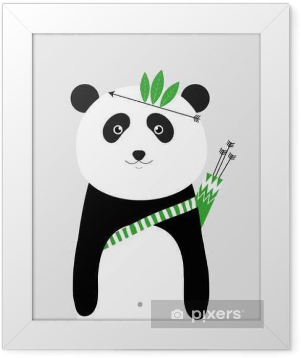 Póster Enmarcado Soy valiente panda - Animales