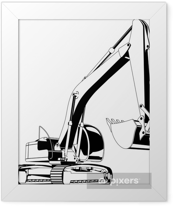 excavator Framed Poster - On the Road
