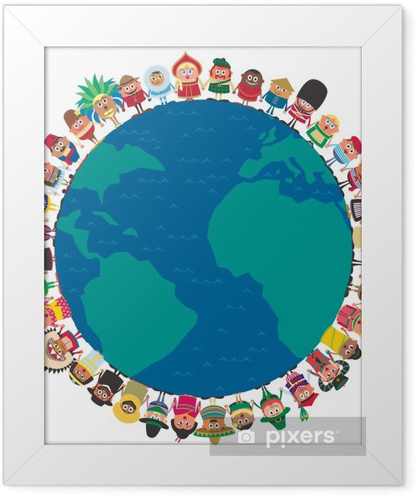 Ingelijste Poster Unity - Groepen en Menigte