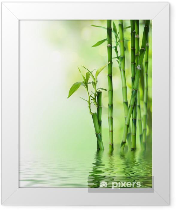 Poster in Cornice Canne di bambù su acqua - Stili