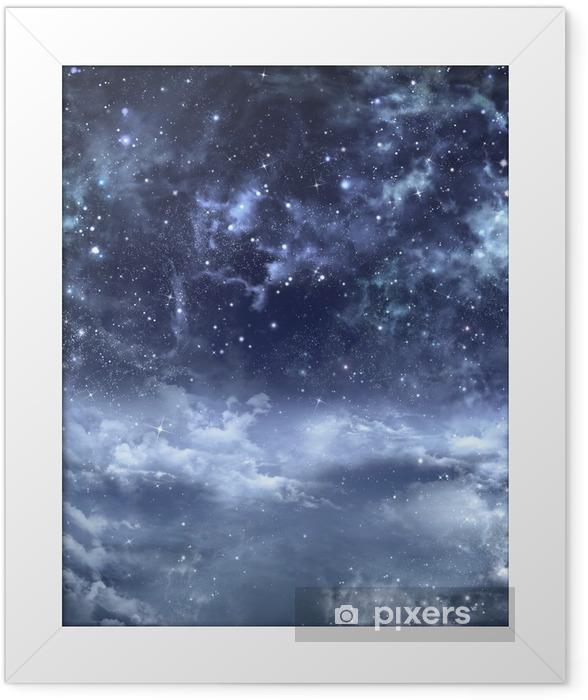 Smukke baggrund af nattehimlen Indrammet plakat -