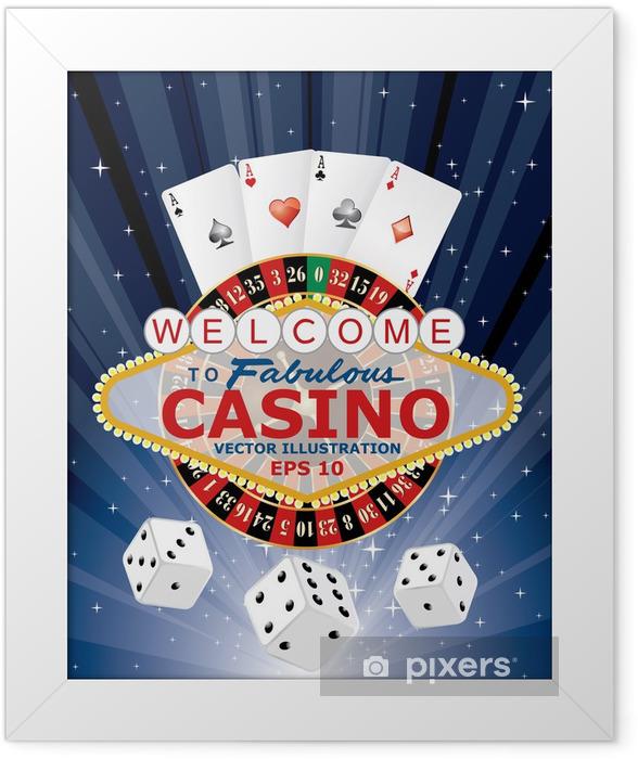 Plakat w ramie Kasyno hazard - Rozrywka