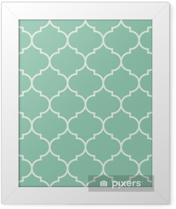 Gerahmtes Bild Nahtlose Türkis breit marokkanisch Muster Vektor -