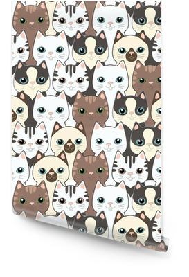 Divertente fumetto gatti. Seamless pattern Rotolo di carta da parati
