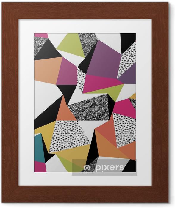 Poster en cadre Seamless géométrique dans le style rétro. Vintage background. C - Criteo