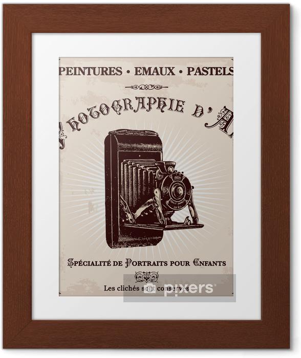 Ingelijste Poster Voormalig reclame fotograaf - Thema's