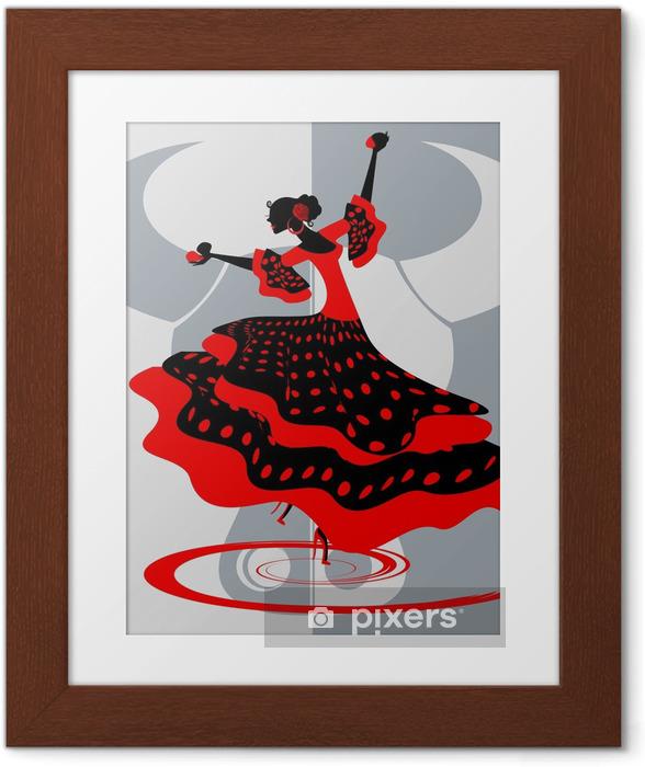 Plakat w ramie Hiszpański tancerz - Tematy