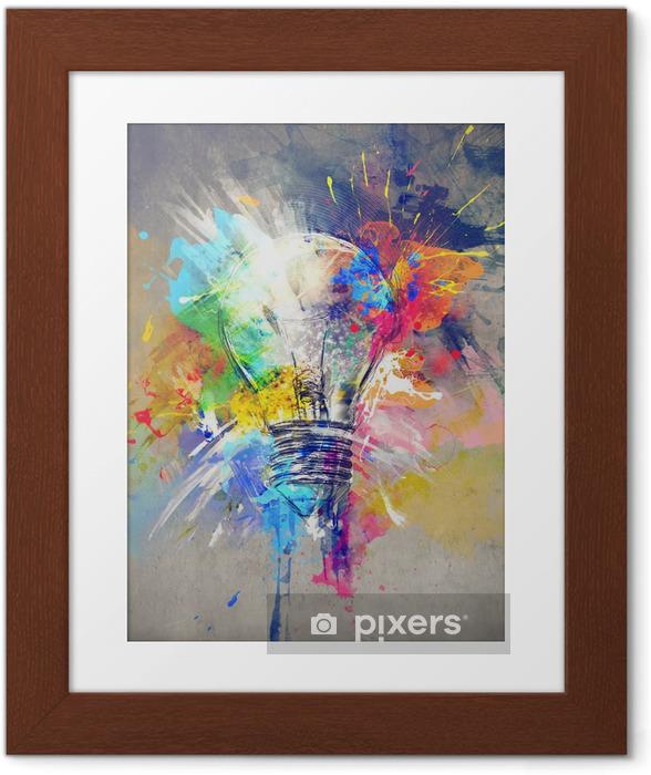 Poster en cadre Lumière colorée -