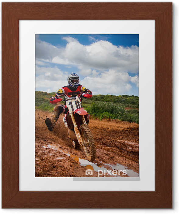 Plakat w ramie Rider motocross -