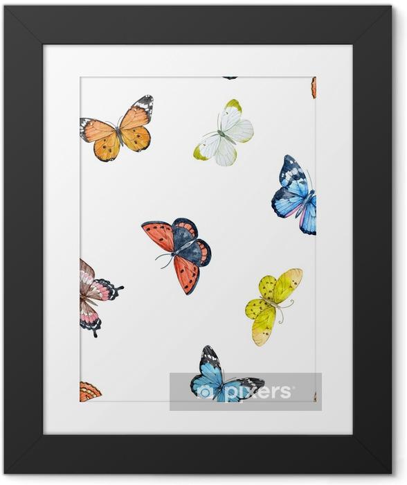Obrazek w ramie Akwarela motyl wzór - Zwierzęta