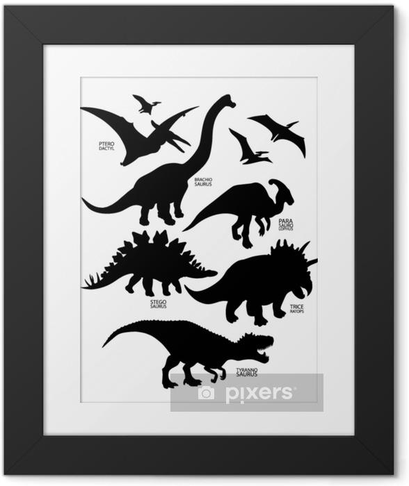 Poster in Cornice Sagome di dinosauro - Animali