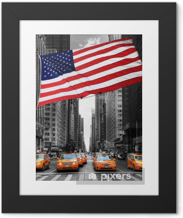 Poster i Ram Symboles de New York. - Teman