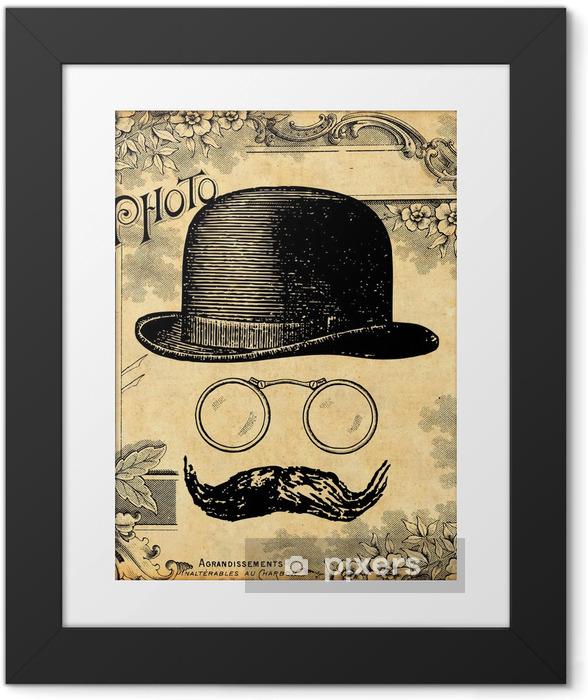 Ingelijste Poster Le Gentleman - Snor