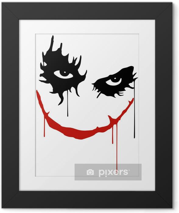 Poster en cadre Joker sourire -