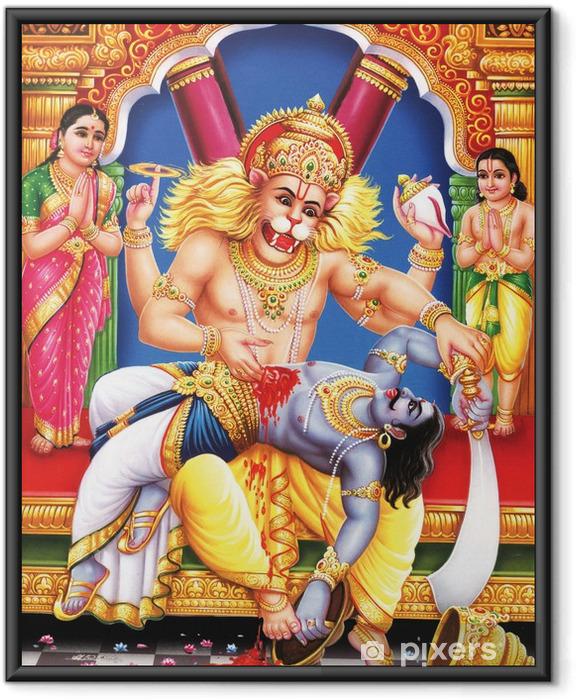 Poster en cadre Dieu indien narshingh awtar à son avis complet - Bâtiments publics
