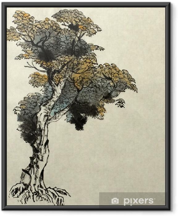 Plakát v rámu Strom kreslení příklad - Rostliny a květiny