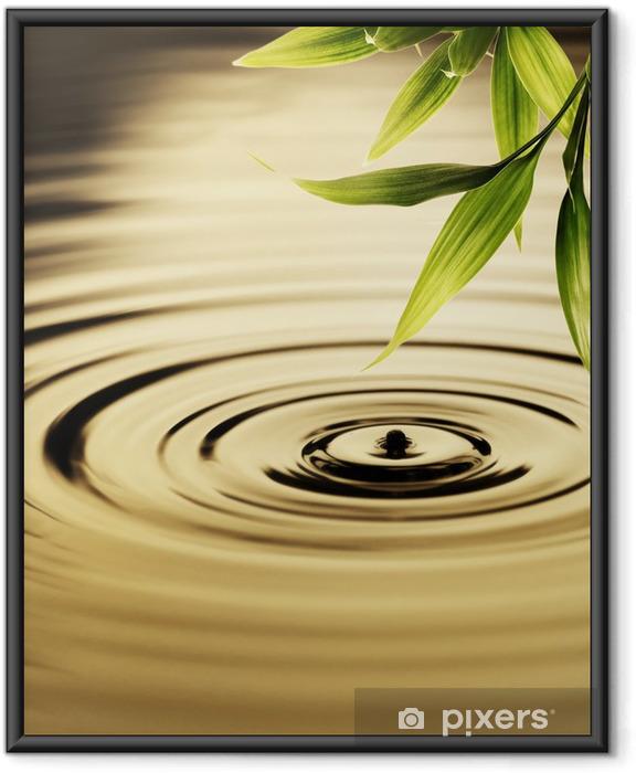 Ingelijste Poster Verse bamboe bladeren over water - Stijlen