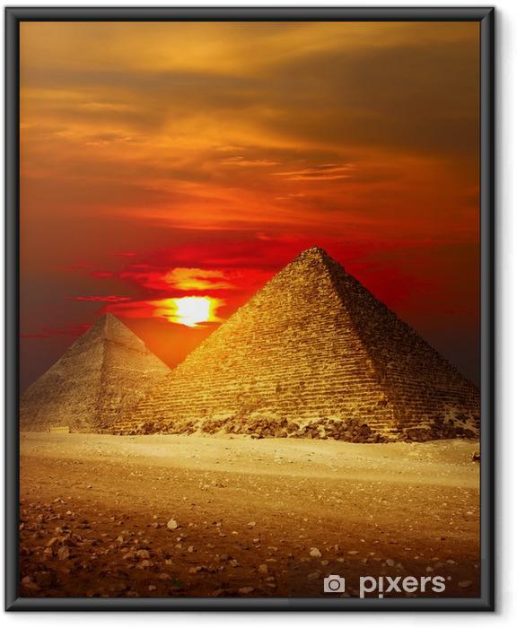Póster Enmarcado Valle de Giza - Desierto