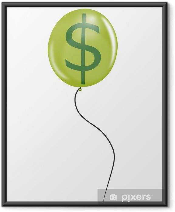 Plakat w ramie Balon z dolara - Finanse