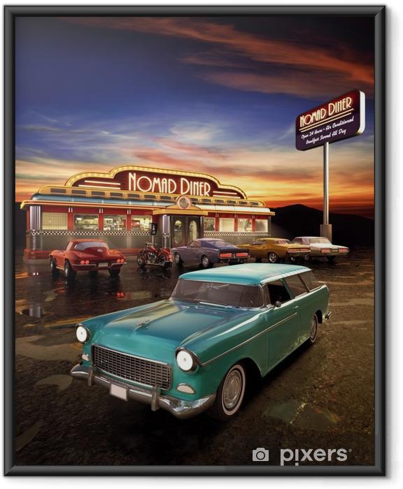 Ingelijste Poster American Diner - Stijlen