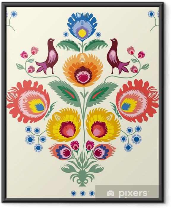 Poster en cadre Kwiaty lowickie - Styles