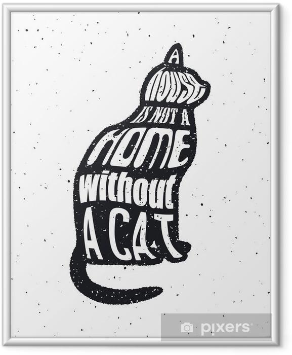 Poster i Ram Lita aldrig på en man som inte gillar katter. - Grafiska resurser