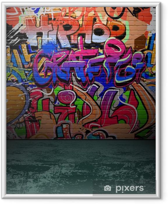 Plakat w ramie Ściany graffiti urban street art painting - Przeznaczenia
