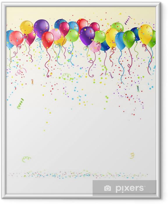 Plakat w ramie Uroczysty balony - Świętowanie
