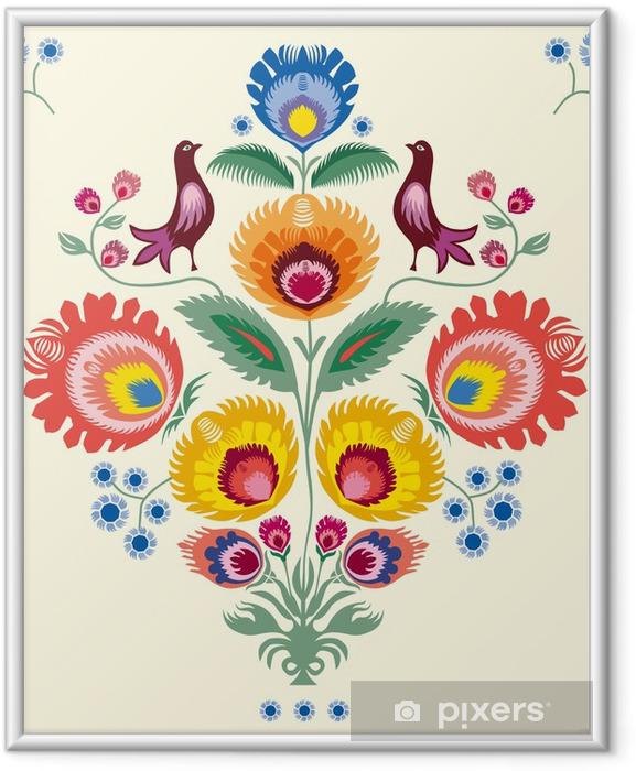 Plakat w ramie Kwiaty lowickie - Style