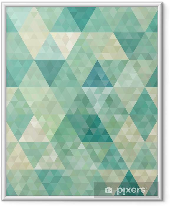 Plakat w ramie Bezszwowe tło z abstrakcyjnym ornamentem geometrycznym - Style