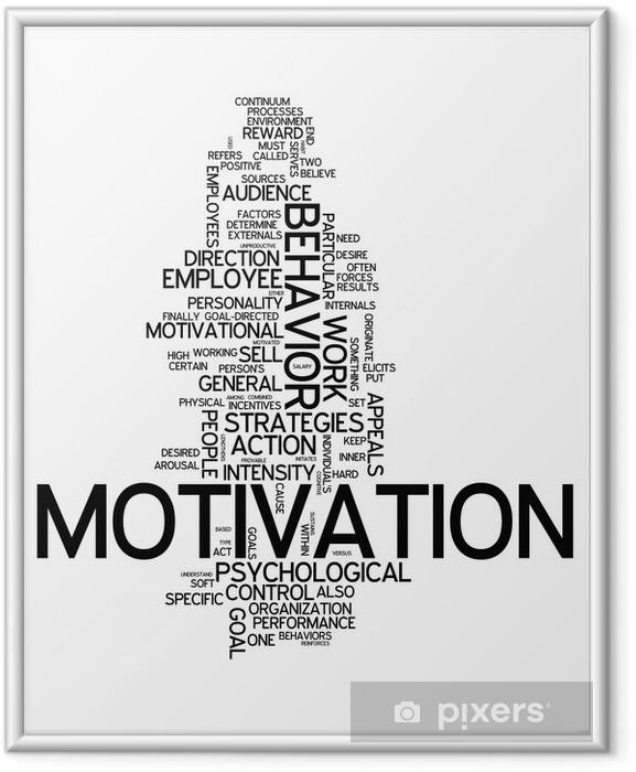 """Gerahmtes Poster Word Cloud """"Motivation"""" - Geschäftskonzepte"""