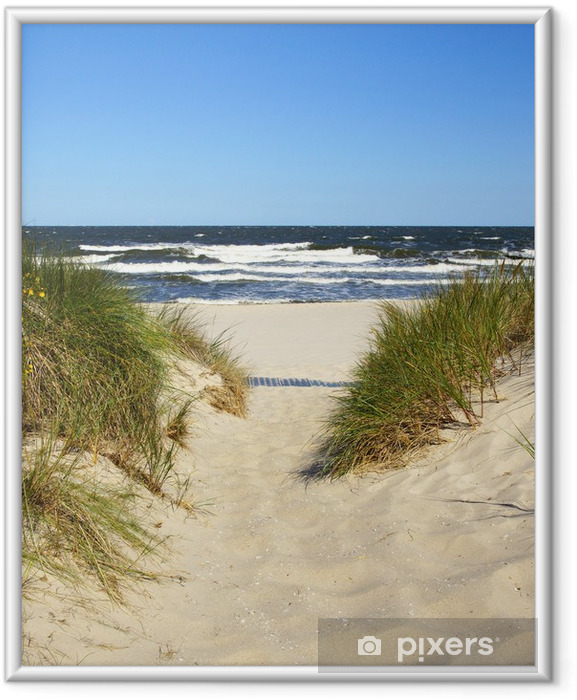 Plakat w ramie Droga do plaży - Lato