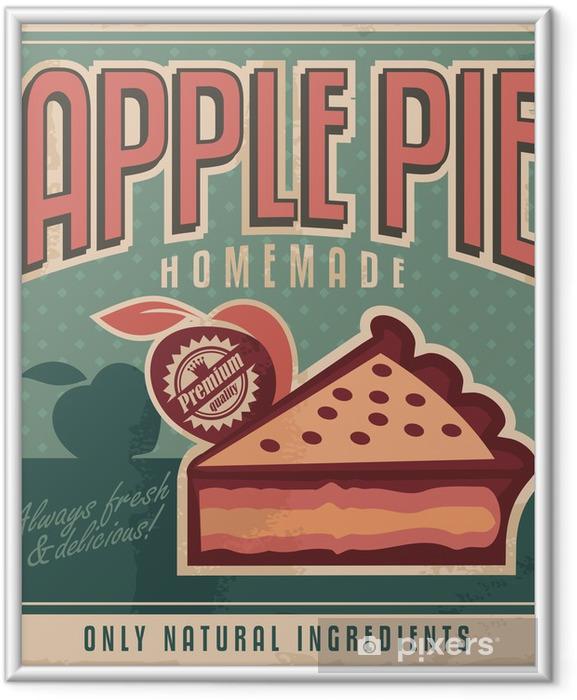 Poster i Ram Vintage affischdesignen för hemlagad äppelpaj - Stilar