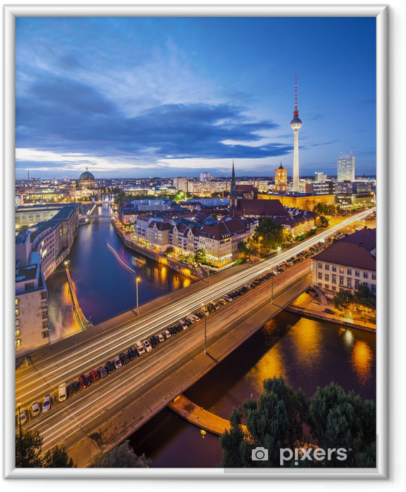 Poster en cadre Berlin, Allemagne Skyline Scène - Allemagne